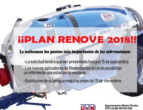 Plan renove maquinaria agrícola 2018